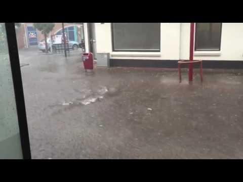 Wateroverlast in Rijssen, Overijssel | 21-7-2016
