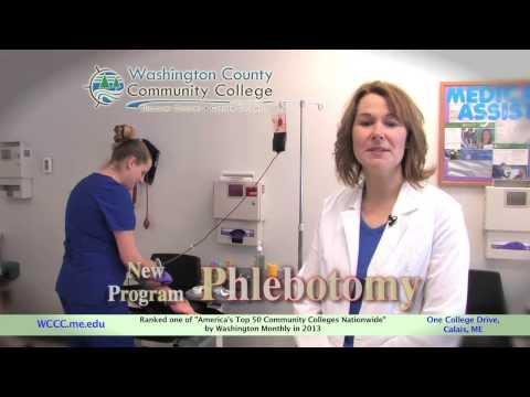 """Washington County Community College: """"Phlebotomy"""""""