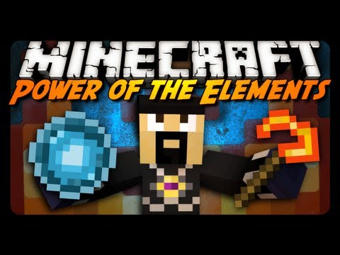 Minecraft Mod Review: Power of the Elements! (Fire / Ice / Lightning Weapons)