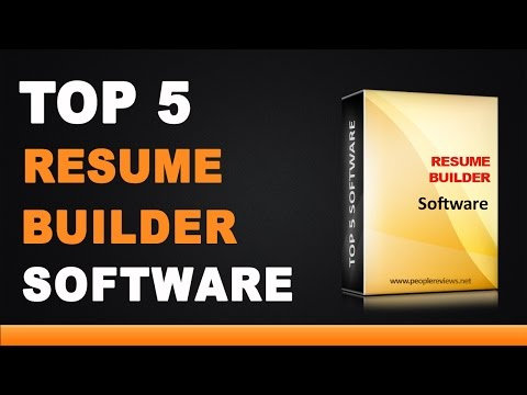 Best Resume Builder Software - Top 5 List