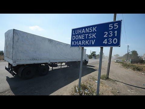 Aid Convoy: Russian humanitarian trucks drive into Ukraine