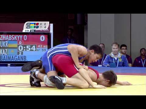 Men's Greco-Roman Wrestling 42Kg - Bronze Medal Contest - Singapore 2010 Youth Games Image 1