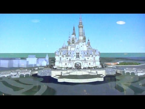Shanghai Disneyland Enchanted Storybook Castle Virtual Tour at One Man's Dream, Hollywood Studios