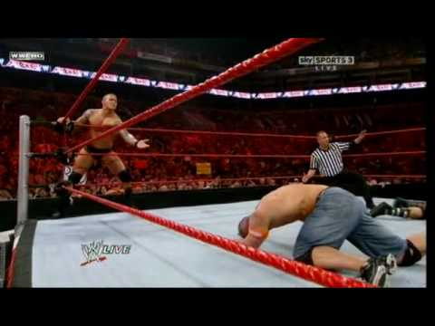 WWE Raw 3/29/10 John Cena & Randy Orton vs Batista & Jack Swagger Video