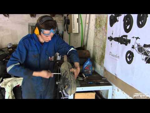 Восстановление убитого глушителя Yamaha Jog Artistic