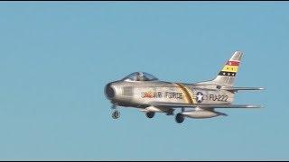 RC F-86 Sabre - Crosswind Flight