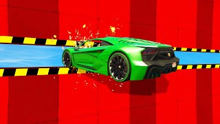 0,1% Chance To FIT Through The GAP! (GTA 5 Funny Moments)