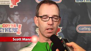2012 Tim Hortons Brier Draw 5 Media Scrum