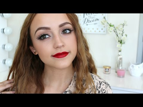 EASY look- Glossy Red Lips!
