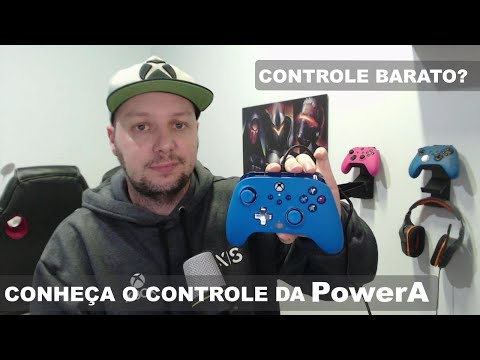 Controle PowerA Enhanced Wired para Xbox One/Series e PC unboxing em pt/br