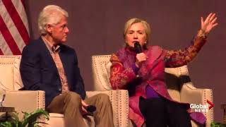 Bill and Hillary Clinton reminisce about election 25 years later