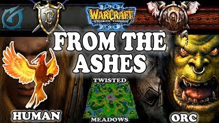 Grubby   Warcraft 3 TFT   1.30 PTR   HU v ORC on Twisted Meadows - From the Ashes