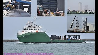 SpaceX Boca Chica - GO Discovery arrives with Starship Hardware - Worksite Expanding