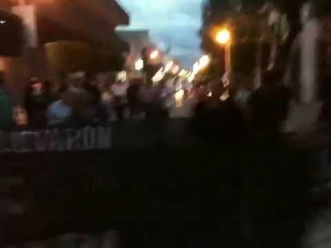 EF-NOTICIAS: LA MARCHA EN TEHUACAN DE REPUDIO A LA MASACRE DE NORMALISTAS DE AYOTZINAPA.