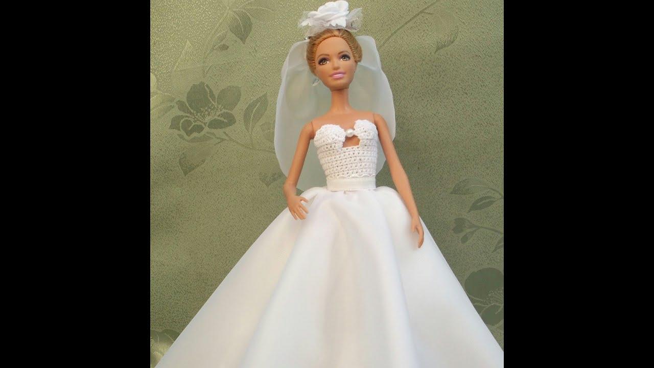 Пять нарядных платьев для Барби, шьём своими руками 52