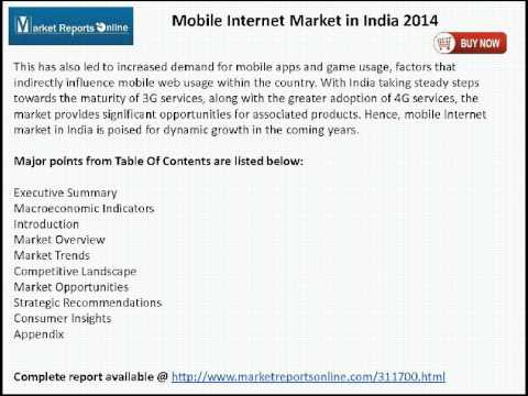 Mobile Internet Market in India 2014