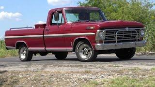 FE 390 1968 Ford F-100 Ranger pickup truck test drive FUN
