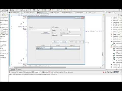 Java Tutorial Add, Save, Edit, Search, Delete from MySQL or Any Database