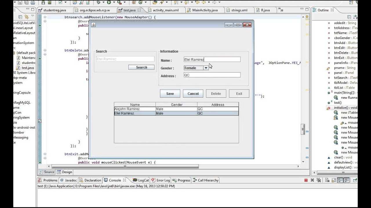 Java Tutorial Add, Save, Edit, Search, Delete from MySQL ...