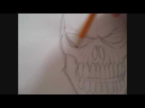 How To Draw A Flaming Skull Step Four Video