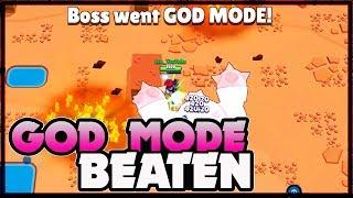 Beating God Mode | Insane IV beaten LIVE | Boss Fight in Brawl Stars