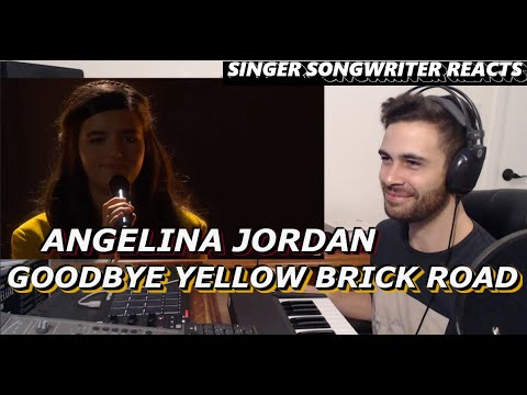 ANGELINA JORDAN - Goodbye Yellow Brick Road | Singer Songwriter REACTION | America's Got Talent