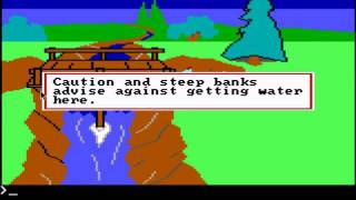 Easter Eggs, Things to Try, and Funny Messages: King's Quest 1 Old