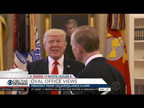 Trump gets annoyed with questions about Obama, ends CBS interview: 'That's enough'