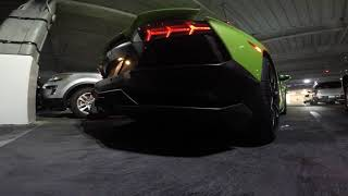 4K Lamborghini Aventador, Roof Assembly, Cold Start, Garage Drive-through