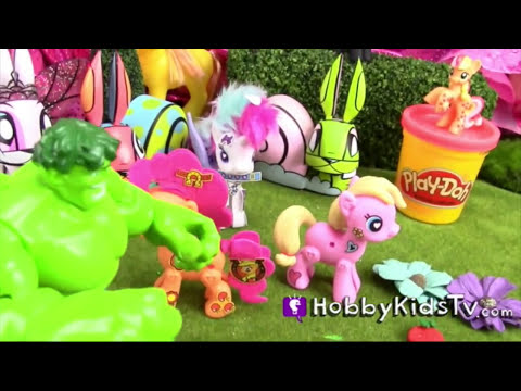 My Little Pony Pop, Style, Switch! Hulk Smashes Apple Pie by HobbyKidsTV