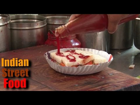 indian street food gujarat ahmedabad - pizza & sandwich - ahmedabad street food 2016