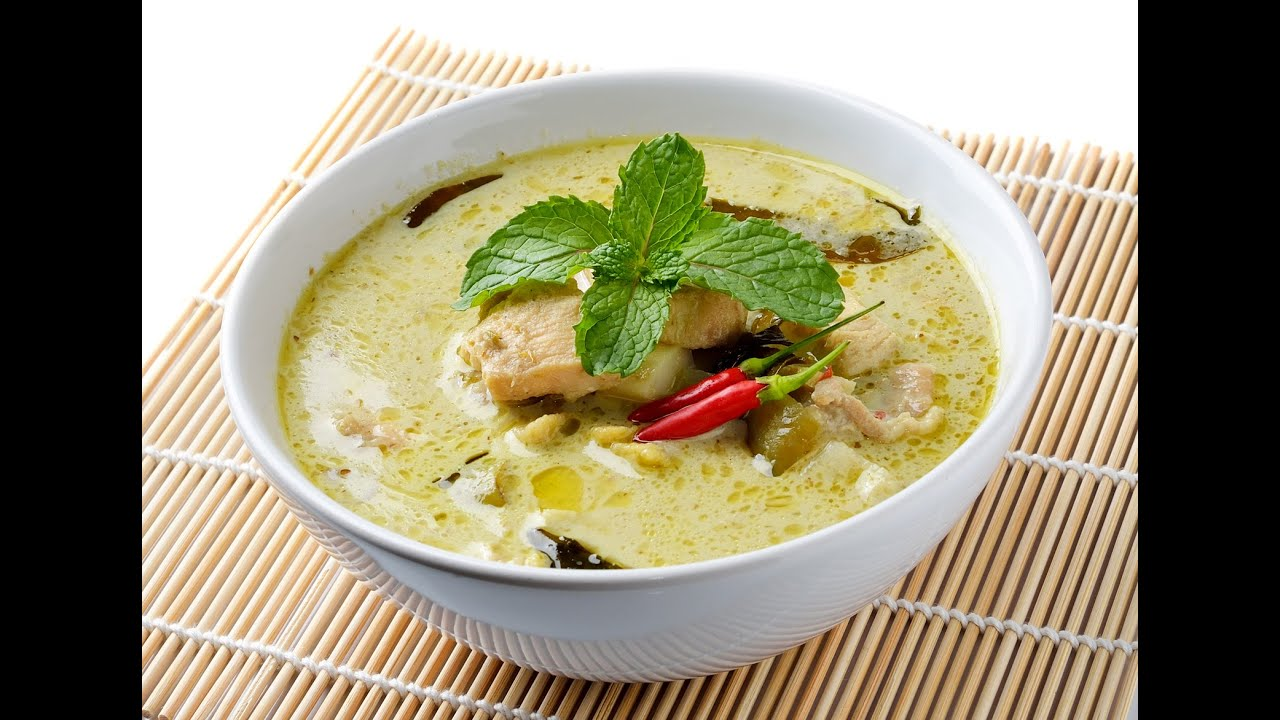 Green Curry Chicken With Rice Thai Green Curry Chicken