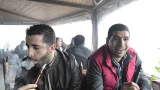 The art of smoking at a cafe in Antakya, Turkey