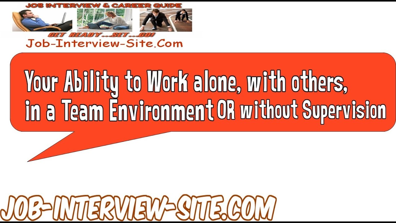 ability to work in a team