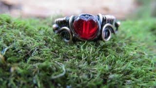 Как сделать кольцо из медной проволоки.