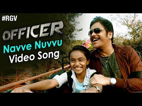 Navve Nuvvu Video Song | Officer Movie Songs | Nagarjuna | Myra Sareen | RGV | #NavveNuvvu