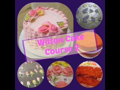 Wilton Cake Class Course 2   Flowers And Cake Design    Final Cake