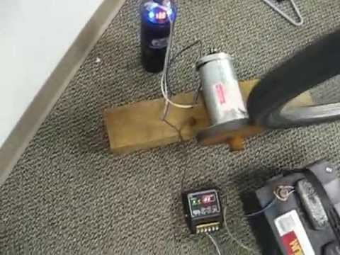 12 Volt D.C. Generator Powered by a Bike - YouTube