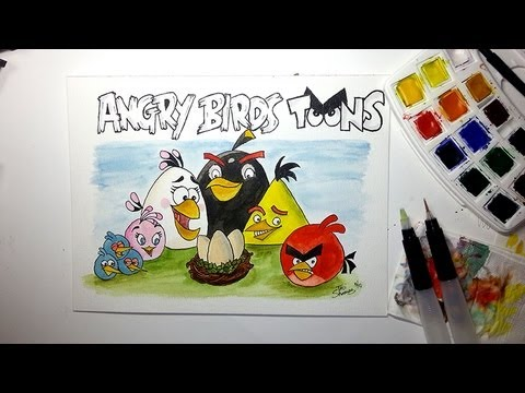 Angry Birds Toons Drawing Drawing Angry Birds Toons