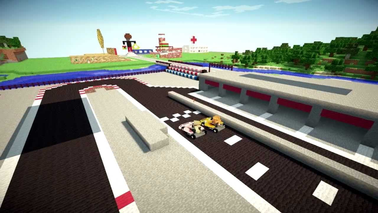how to make a race track in minecraft xbox