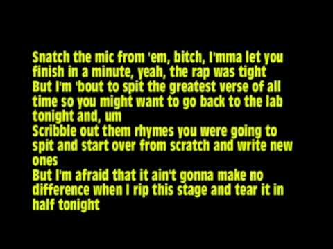 Eminem Ft. Lil Wayne - No Love + Lyrics On Screen video