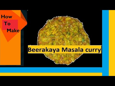 Beerakaya Curry || Beerakaya Fry For Chapathi || Beerakaya Curry Vahchef in Telugu