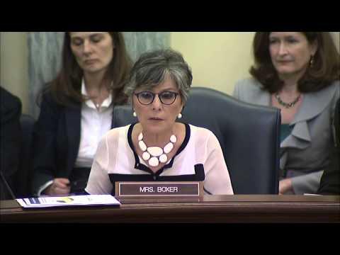 Senator Boxer Presses E-Cigarette Companies on Marketing of Products to Children