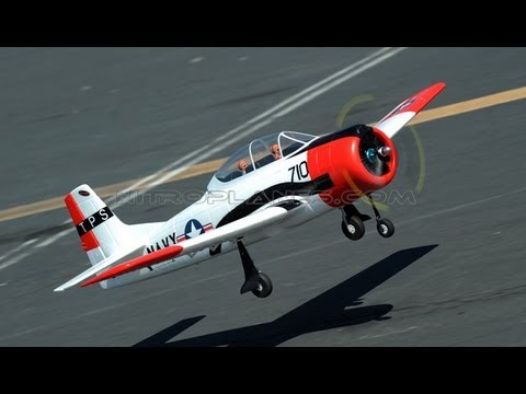 New Red Dynam 1200mm T-28 Trojan w/ Retracts Overview
