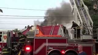 BOUND BROOK NEW JERSEY 2ND ALARM STRUCTURE FIRE 6/9/15, 25 BURGERS RESTAURANT
