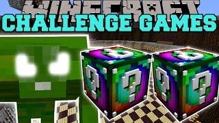 Minecraft: GREEN MONSTER CHALLENGE GAMES - Lucky Block Mod - Modded Mini-Game