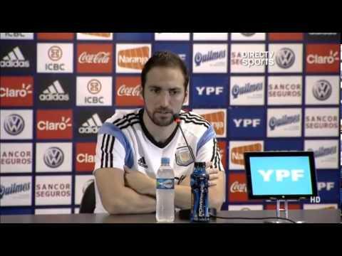 [ARG] Conferencia de Prensa - Gonzalo Higuaín (27-06) [FULL HD]