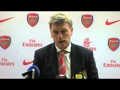 David Moyes after Arsenal v Man Utd - 12.2.2014