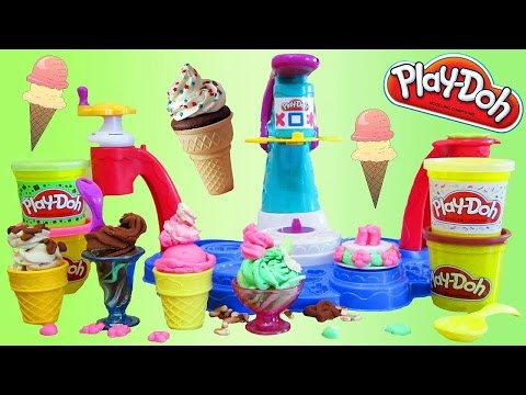 Распаковка набора ФАБРИКА СЛАДОСТЕЙ из Пластилина Плей До - Unboxing Play Doh Ice Cream