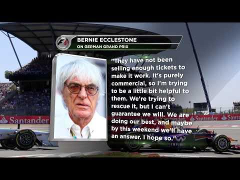 Bernie Ecclestone kritisiert Nürburgring | Deutschland-Grand-Prix 2015 in Gefahr